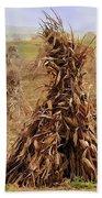 Corn Stalk Bales Beach Towel