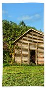 Corncrib In Afternoon Light Beach Towel