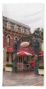 Corner Cafe Main Street Disneyland 02 Beach Towel
