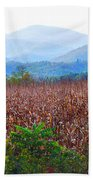 Cornfield In The Mountains Beach Towel