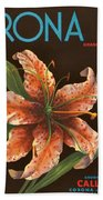 Corona Lily Crate Label Beach Towel