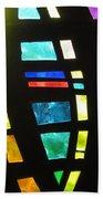 Coronado Hospital Chapel Stained Glass Beach Towel