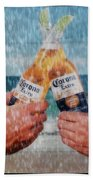 Coronas In The Rain Beach Towel