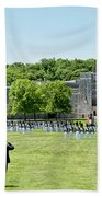Corps Of Cadets Present Arms Beach Towel