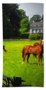 Corralled Horses - Featured In And Lets All Participate And Abc Groups Beach Towel