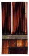Corrugated Steel Mill Wall Alton Il Beach Towel