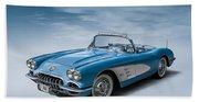 Corvette Blues Beach Towel