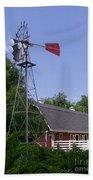 Cosley Zoo Windmill And Barn Beach Towel
