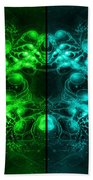 Cosmic Alien Eyes Pride Beach Towel by Shawn Dall