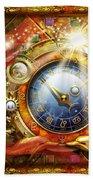 Cosmic Clock Beach Towel by Ciro Marchetti