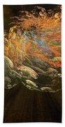 Cosmic Dust And Light Beauty Fine Fractal Art Beach Towel