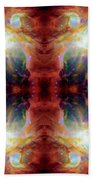 Cosmic Spine Deep Space Reflection Beach Towel