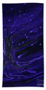 Cosmic Tree Blue Beach Towel