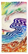 Cosmic Waves Beach Towel