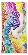 Cosmic Waves Vertical Beach Towel