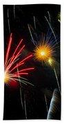 Cosmos Fireworks Beach Towel