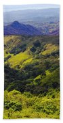 Costa Rica Mountains Beach Towel