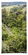 Costa Rica Zip Line View Beach Towel
