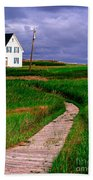 Cottage Among The Dunes Beach Towel by Edward Fielding