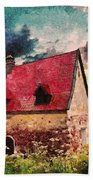 Cottage By The Sea - Abstract Realism Beach Towel