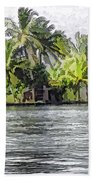 Cottage In The Midst Of Greenery Beach Towel