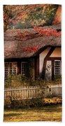 Cottage - Nana's House Beach Towel by Mike Savad