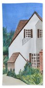Cottage On A Hill Beach Towel