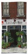 Cottage Rose Beach Towel