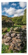 Cottage Ruin Beach Towel by Adrian Evans