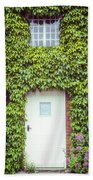 Cottage With Ivy Beach Towel