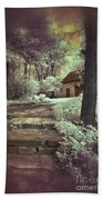 Cottages In The Woods Beach Towel by Jill Battaglia