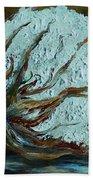 Cotton Boll On Wood Beach Towel by Eloise Schneider