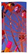 Cotton Candy Ferris Wheel Beach Towel