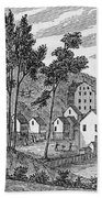 Cotton Factory Village, Glastenbury, From Connecticut Historical Collections, By John Warner Beach Towel