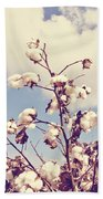 Cotton In The Sky With Filter Beach Towel