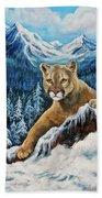Cougar Sedona Red Rocks  Beach Towel