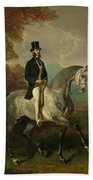 Count Alfred De Montgomery 1810-91 1850-60 Oil On Canvas Beach Towel