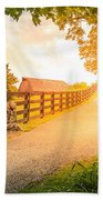 Country Alley Beach Towel