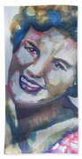 Country Artist Patsy Cline Beach Towel