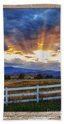 Country Beams Of Light Pealing Picture Window Frame Vie Beach Towel