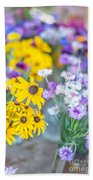 Country Blooms Beach Towel