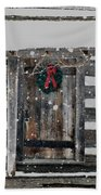 Country Christmas Beach Towel
