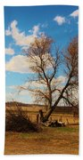 Country Clouds Beach Towel
