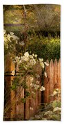 Country - Country Autumn Garden  Beach Towel by Mike Savad