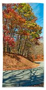 Country Curves And Vultures Beach Towel