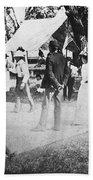 Country Dance, 19th Century Beach Towel