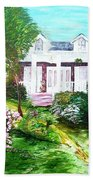 Country Estate In Spring Beach Towel