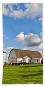 Country Farm Beach Towel by Frozen in Time Fine Art Photography