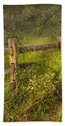 Country - Fence - County Border  Beach Towel by Mike Savad