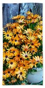 Country Floral Beach Towel